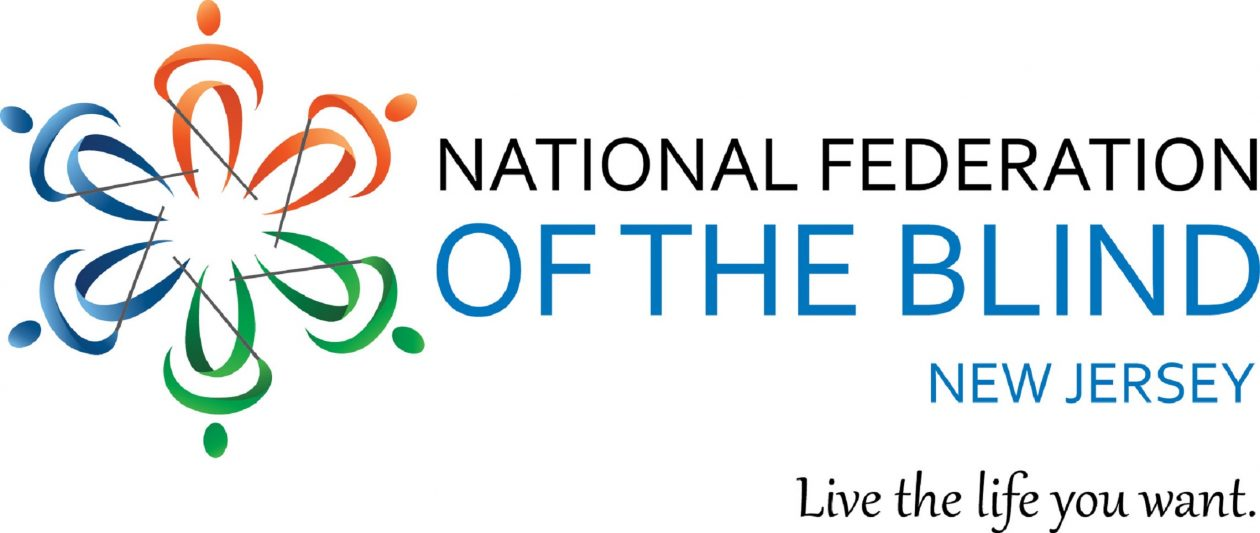 Image of National Federation of the Blind of New Jersey logo and tagline.
