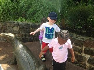 Luke and Zora at the zoo