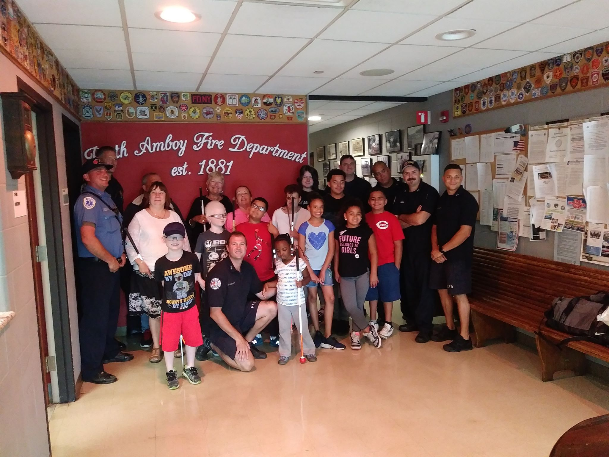 Bell students & staff at Perth Amboy Firehouse