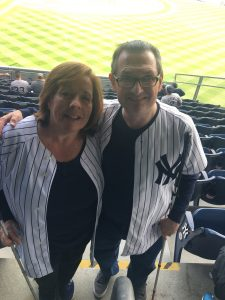 Andrew Rees and Linda Melendez at Yankees home opener, April 2017